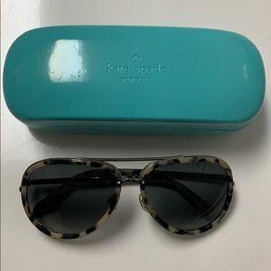 Kate spade tortoise aviator sunglasses